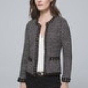 Embellished Sweater Jacket (White House Black)